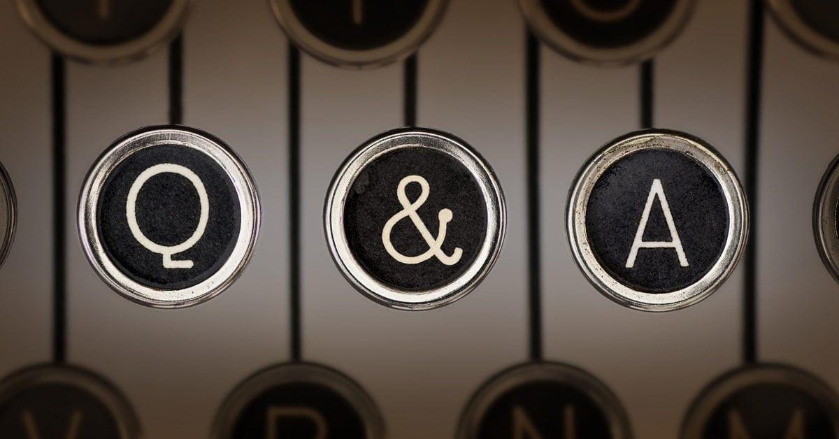 Q & A typewriter keys